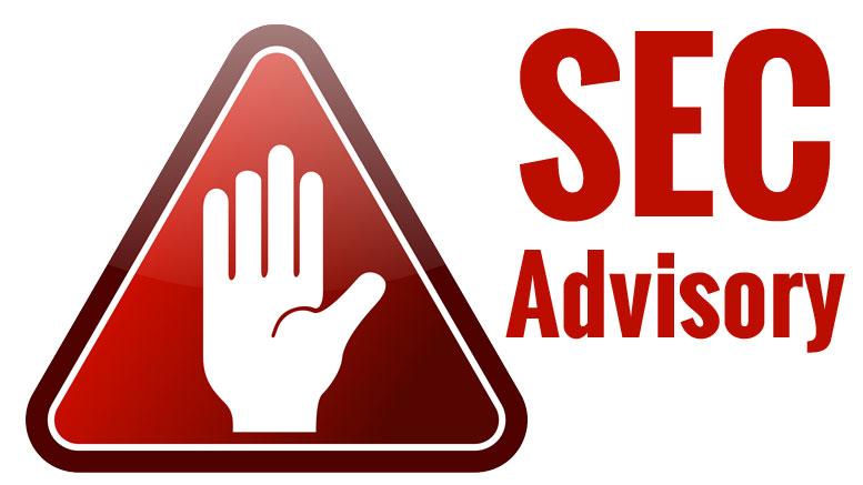 SEC Advisory