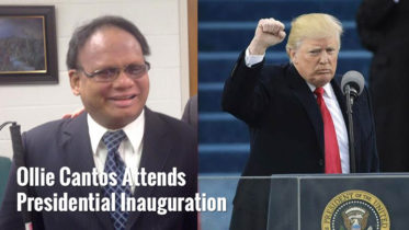 Olly Cantos attends Donald Trump Inauguration